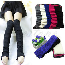 Long over Knee Crochet Knit Leg Warmers High Hosiery Stocking Boot Socks Gloves