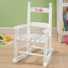 NEW ~ PERSONALIZED Kids WHITE Wooden Rocking Chair Rocker WOOD