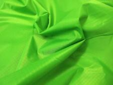 Waterproof RIPSTOP Nylon Fabric Material - FLO LIME