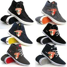 Lambretta Mens Hi Tops Trainers New Ankle Flat Pumps Quilted Fashion Boots Shoes