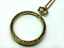 High Quality Magnifying necklace Steampunk romantic shabby chic Bronze Silver