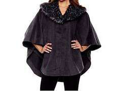 Women's Winter Fall Spring Faux fur Cape Wrap poncho shawl plus L XL 1X 2X 3X 4X