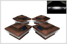 8-Pack Solar COPPER Post Cap LED Lights For 6 x 6 PVC Vinyl or Wood Fence Post