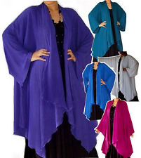@A307 JACKET ASYM LAGENLOOK CASCADE CRINKLE SOLID MADE 2 ORDER CHOOSE COLORS