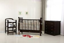 Brand New Baby Sleigh Cot Package.Select package you want in white or dark wood