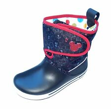 New Authentic Crocs Kids Unisex Crocband II.5 Gust Boot Mickey Shoes