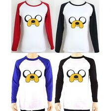 Cute Funny Jake Dog Adventure Time Design Long Sleeve Couple T-Shirt Graphic Tee