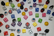 VW Golf All Models Dice EYE Ball Union Jack Grenades Valve Caps Dust Cap Dustie