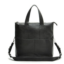 HOT ZARA New Arrival Men Large Business Briefcase Black Faux Leather Office Bag
