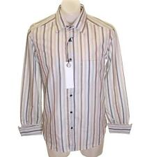 Bnwt Men's Authentic Full Circle Hurries Long Sleeve Striped Shirt New