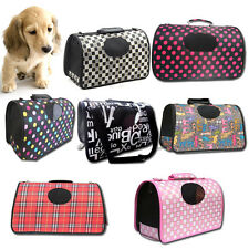 Puppy Dog Cat Soft Portable Tote Crate Carrier House Kennel Pet Travel Bag Cage