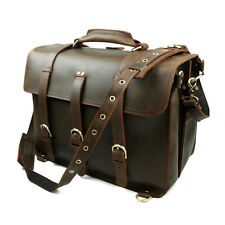 Leather Briefcase for men Best Laptop Messenger Cross Shoulder Backpack Attache