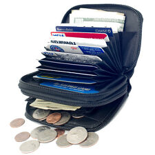 Genuine Leather Accordion Style Credit Card Holder Wallet