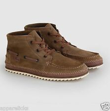 Lacoste Sauville Mid Men's Brown Suede Leather Lace Up Hi Tops Casual Shoes