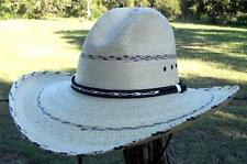 "NEW Summit Quality SAHUAYO Palm PINTO GUS Western Cowboy Straw Hat 4"" Brim"