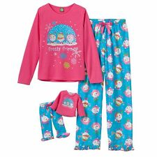 "Dollie & Me Sz 4-14 and 18"" doll matching Pajama set ft american girl christmas"