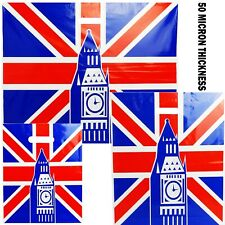NEW UNION JACK STRONG PLASTIC CARRIER BAGS LUXURY DIE CUT HANDLE PACK OF 100