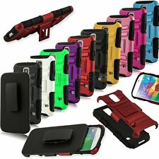 For Samsung Galaxy S5 SV i9600 Combo Kickstand case with Holster and Belt clip