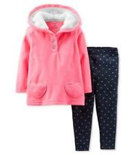 Carter's 3 6 9 12 18 24 mos pink Fleece Hoodie & Leggings Set Baby Girl Clothes