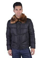Versace Collection Men's Black Down Parka With Detachable Collar XS S M L XL
