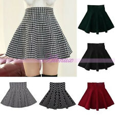 Korean Lady Spring Winter Autumn Short Full Skirts Cute Skirt Mini Prom Dress