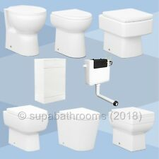 500/600 Classic Back To Wall BTW Unit White Optional Cistern, Toilet Pan & Seat