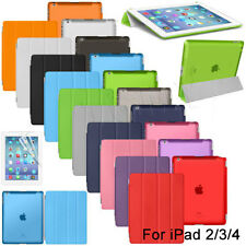 For iPad 2 3 4 Screen Protector/Ultra Slim Magnetic Smart Matte transparent Case