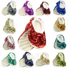 Snoozies Ballerina Bling Cozy Foot Slippers, Various Sizes and Colors