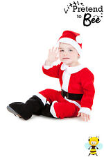KIDS CHILDRENS BOYS GIRLS SANTA CLAUS FATHER CHRISTMAS COSTUME OUTFIT AGE 2-3-5