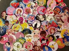 """*AWESOME CHILDRENS GRAB BAG* 25 - 150 Assorted Lot Pre-Cut 1"""" Bottle Cap Images"""