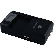 Universal LCD + USB Battery Charger For Samsung Galaxy 2 3 4 5 Note II III I9300