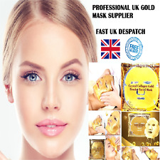 GOLD Premium Collagen Bio Crystal Face Masks Eye Anti Ageing Skin Care
