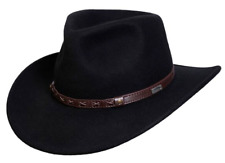 "NEW Conner CRUSHABLE Water Proof WOOL OUTBACK Cowboy Hat Black 3"" Brim C1017"