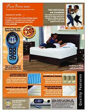 NEW LuxAire I Dual Air Chambered Mattress! *Adjustable Firmness* Pick Size!