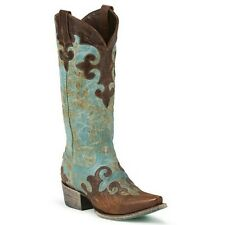 Lane Ladies Turquoise Dawson Cowgirl Boot LB0023A New