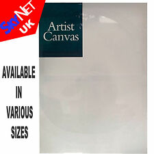 ARTIST BLANK STRETCHED & ACRYLIC PRIMED BOX FRAMED ART CANVAS BEST QUALITY SIZES