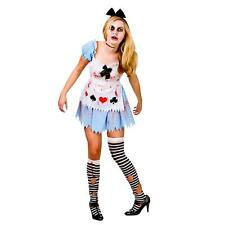 Alice in Zombieland Halloween Zombie Fancy Dress Ladies Costume