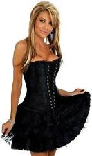 SEXY VICTORIAN GOTHIC BLACK CORSET WITH SKIRT / BASQUES (S, M, L, XL, 2XL)(126)