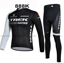 Cycling Jersey TREK LOGO Bike Bicycle Clothing Long Sleeve Suit Breathable SET