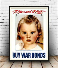 Buy War Bonds : Old USA Wartime  poster reproduction.