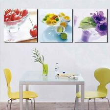 3 Panels Wall Art Kitchen Fruit Decoration Canvas Abstract Pictures On Canvas