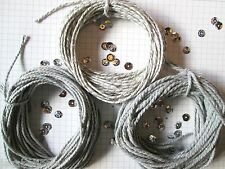 30mts Silver Grey  Bakers Twine.10mts + 10mts stripey+ 10mts sparkle  2mm thick