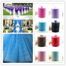 """HOT New 100yd6""""tulle sequin fabric sewing craft Wedding Decorate DIY L1813-L1821"""