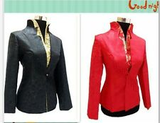 Junoesque Chinese Style Embroidery Clothing Jacket SIZE :S-3XL (Black and Red)++