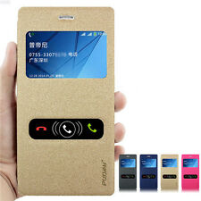 New Flip PU Leather Stand Case Cover + Screen Protector for Sony Xperia M2 S50h
