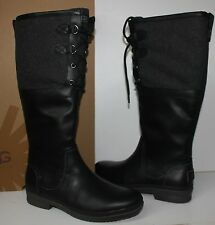 Ugg Elsa waterproof black leather women's boots New In Box