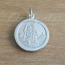 925 STERLING SILVER ST CHRISTOPHER PENDANT TRACE CURB BELCHER FIGARO CHAIN J056