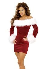 Sexy Womens Santa Claus Christmas Costume Cosplay Xmas Outfit Fancy Dress UK8-16