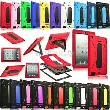 NEW Hybrid Heavy Duty Shockproof Stand Kickstand Case For iPad 2 3 4 5 iPad Air