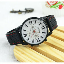 Fashion Men's Sports Pilot Aviator Army Style Silicone Outdoor Wrist Watch New